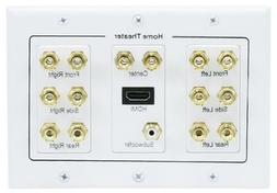 3-Gang 7.1 Surround Sound Distribution Wall Plate with HDMI