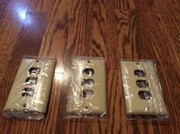 3 Legrand Pass & Seymour IVORY Plastic Despard Wall Plates 3