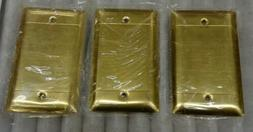 Pass & Seymour Wall Plate Solid Polished Brass Blank 1 Gang