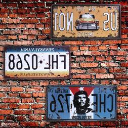 30x16cm Vintage Metal Tin Signs Route 66 Car Number License