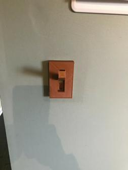 3d PRINTED Toggle Lever Custom Light Switch  Plate Cover