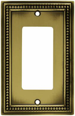 4 pack-BRAINERD 64777 Beaded Single Decorator Wall Plate / S