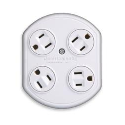 360 Electrical 36030-W 4 Outlet Rotating Plug-In Adapter