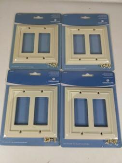4-Wood Architectural 2-Gang Light Almond Double Decorator St