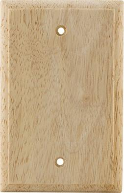 GE 40061 Blank Wall Plate, Unfinished Wood