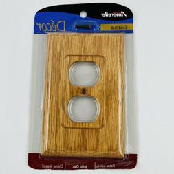 AmerTac 4025D Traditional Light Oak Wood Wall plate
