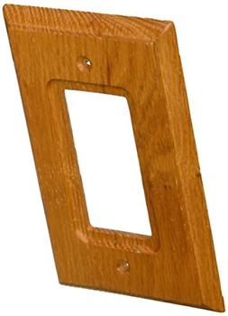 AmerTac 4025R Traditional Light Oak Wood Wall plate