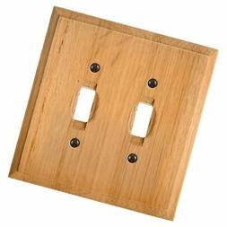 AmerTac 4025TT Traditional Light Oak Wood Wall plate