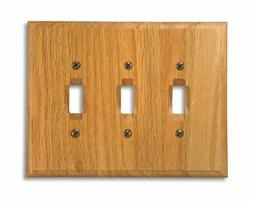 Amerelle 4025TTT Traditional Wood Triple Toggle Wallplate, L