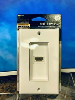 GE 40659 HDMI Wall Plate - White