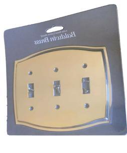 Baldwin 4780.030.CD Colonial Design Triple Toggle Switch Pla