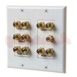 5.1 Surround Home Theater Speaker Wall Plate Banana Binding