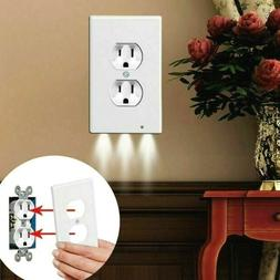 5 PCS Duplex Wall Plate Outlet Cover with LED Night Lights A