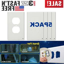 5 pcs outlet wall plate led night
