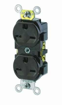 Leviton 5028 15 Amp, 250 Volt, Narrow Body Duplex Receptacle