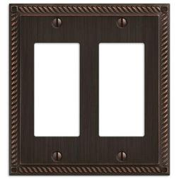 Amerelle 54RRVB Georgian Aged Bronze Cast 2 Rocker Wallplate