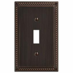 Amerelle 54TVB Georgian 1 Toggle Wall Plate, Aged Bronze