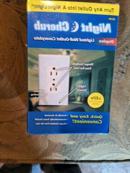 5PCS Duplex Wall Plate Outlet Cover w/ LED Night Light Ambie