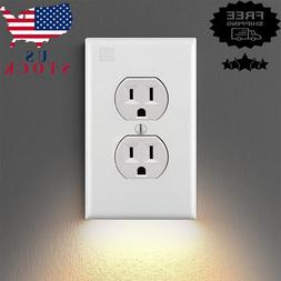 5Pcs Outlet Wall Plate With LED Night Lights High-quality Du
