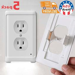 5xDuplex Wall Outlet Cover wall plate with led night lights