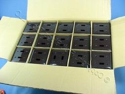 600 GE 2-Gang Brown UNBREAKABLE Switch Cover Wall Plates WD9