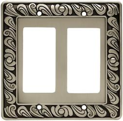 Franklin Brass 64037 Paisley Double Decorator Wall Plate / S