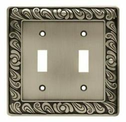 Franklin Brass 64039 Paisley Double Toggle Switch Wall Plate