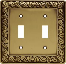 Franklin Brass 64040 Paisley Double Toggle Switch Wall Plate