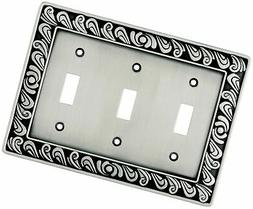 Franklin Brass 64054 Paisley Triple Toggle Switch Wall Plate