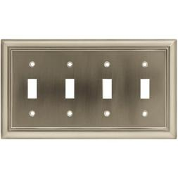 Brainerd 64169 Architectural Quad Toggle Switch Wall Plate /