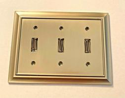 BRAINERD 64174 Architectural Triple Toggle Switch Wall Plate