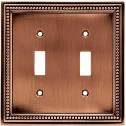 Brainerd 64243 Beaded Double Toggle Switch Wall Plate / Swit