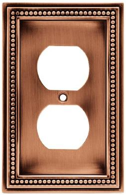 Brainerd 64244 Beaded Single Duplex Outlet Wall Plate / Swit