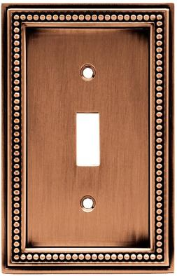 Brainerd 64245 Beaded Single Toggle Switch Wall Plate / Swit
