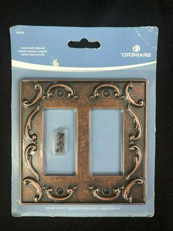 64260 Brainerd French Lace 2-Gang Sponged Copper Double Deco