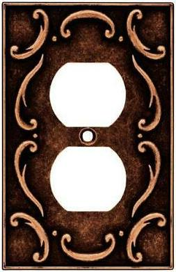 Brainerd 64266 French Lace Single Duplex Outlet Wall Plate S