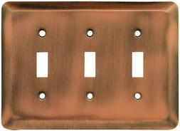 Franklin Brass 64377 Stamped Steel Round Triple Toggle Switc