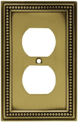 Brainerd 64400 Beaded Single Duplex Outlet Wall Plate / Swit