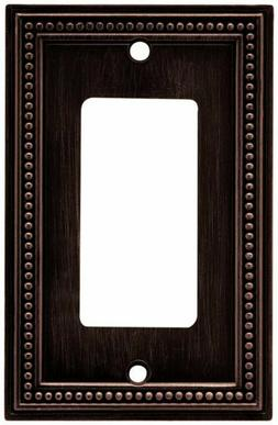 Brainerd 64405 Beaded Single Decorator Wall Plate / Switch P