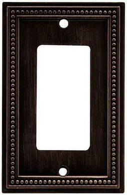 Brainerd 64405 Beaded Single Decorator Wall Plate Venetian B