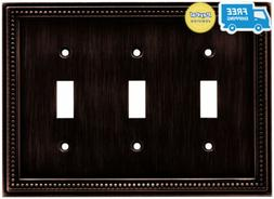 Brainerd 64408 Beaded Triple Toggle Switch Wall Plate / / Co