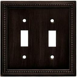 Brainerd 64409 Beaded Double Toggle Switch Wall Plate / Cove