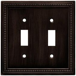 Brainerd 64409 Beaded Double Toggle Switch Wall Plate/Switch