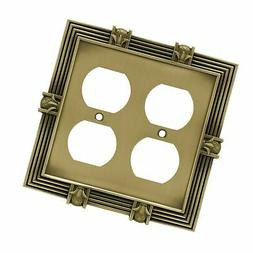 Franklin Brass 64468 Pineapple Double Duplex Outlet Wall Pla
