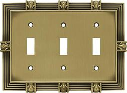 Franklin Brass 64477 Pineapple Triple Toggle Switch Wall Pla