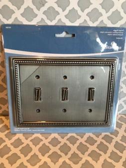 BRAINERD 64737 Beaded Triple Toggle Switch Wall Plate / Swit