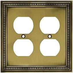 Brainerd 64767 Beaded Double Duplex Outlet Wall Plate / Swit