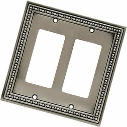 Brainerd 64770 Beaded Double Decorator Wall Plate / Switch P