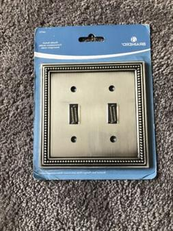 Brainerd 64772 Beaded Double Toggle Switch Wall Plate / / Co