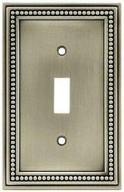 Brainerd 64905 Beaded Single Toggle Switch Wall Plate/Switch